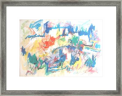 Framed Print featuring the painting A Pastoral Abstract by Esther Newman-Cohen