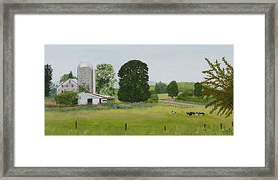And In Her Harmony Of Varied Greens Framed Print