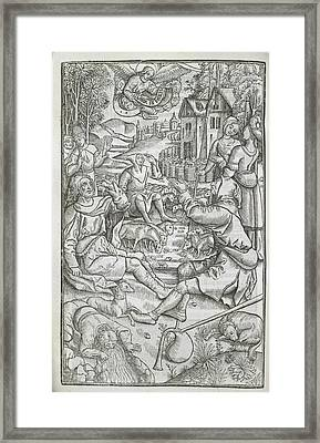 A Pastoral Scene Framed Print by British Library