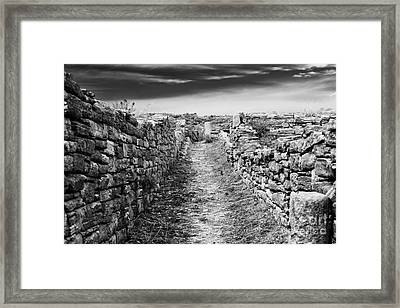 A Path To Delos Island Framed Print by John Rizzuto