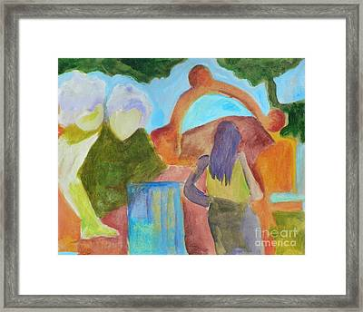 A Path To Discover- Caprian Beauty Series 1 Framed Print by Elizabeth Fontaine-Barr