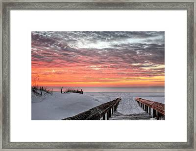 A Path To Paradise In Orange Beach Framed Print