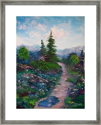 A Path Unknown Framed Print by Megan Walsh