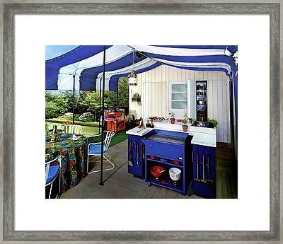 A Patio Framed Print
