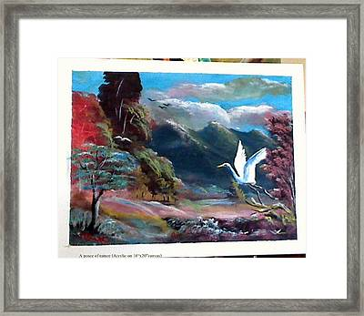 A Peace Of Nature Framed Print by M bhatt
