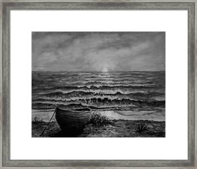A Peaceful Evening  Framed Print by C Steele