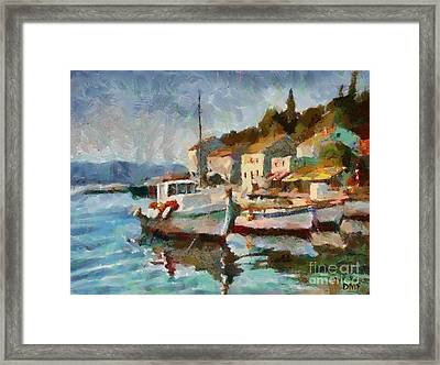 A Peaceful Harbour  Framed Print by Dragica  Micki Fortuna