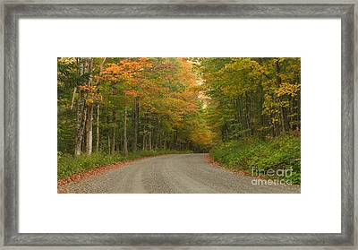 A Peaceful Road Framed Print by Charles Kozierok