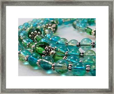 A Peaceful Sea Of Glass  Framed Print by Connie Harriff