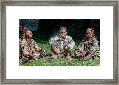 A Peaceful Smoke Framed Print