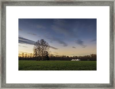 A Peaceful Sunset Framed Print