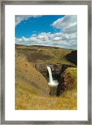 A Peak Of Palouse Falls Framed Print by Jeff Swan