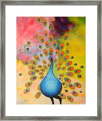 A Peculiar Peacock Framed Print by Thomas Gronowski