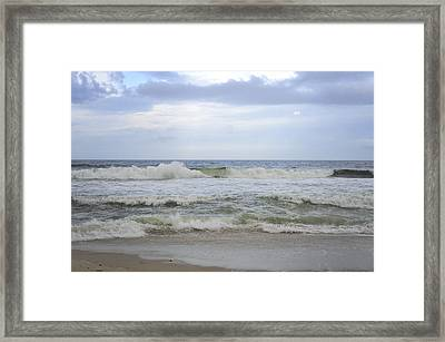 A Peek Of Blue Framed Print by Terry DeLuco