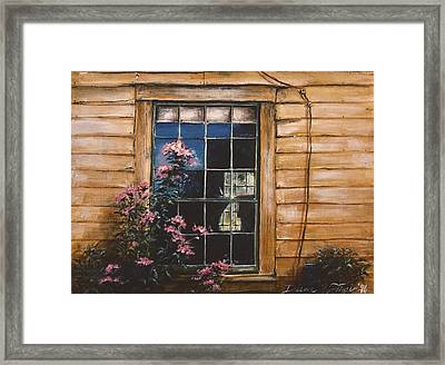 A Peek Through The Window Framed Print