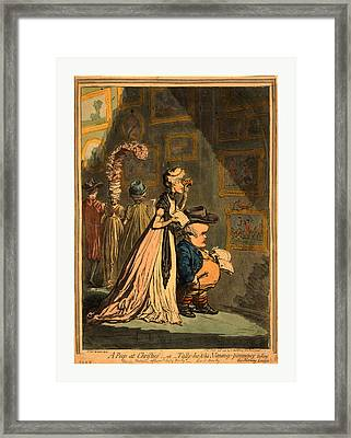 A Peep At Christies Or Tally Ho, And  His Nimeney-pimmeney Framed Print