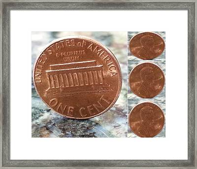 A Penny For Your Thoughts Framed Print by Emmy Vickers