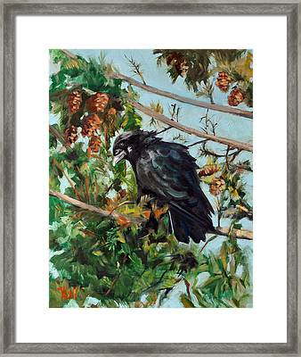 A Perch For Nevermore Framed Print