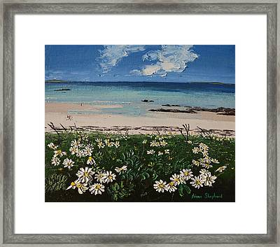 A Perfect Day At Coral Strand Connemara Ireland Framed Print