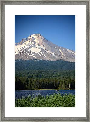 A Perfect Day For Fishing Framed Print by Karen Lee Ensley