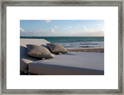A Perfect Day On The Beach Framed Print by Karen Lee Ensley