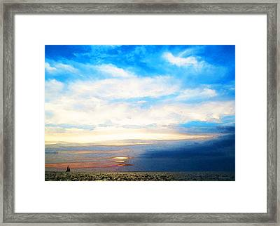 A Perfect End - Sailboat Art Painting Framed Print