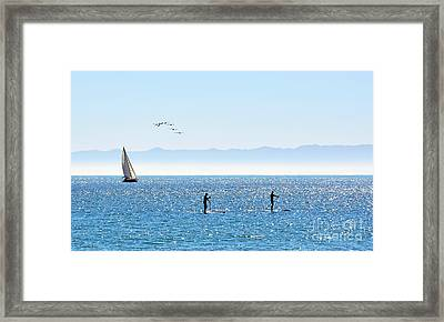 A Perfect Santa Barbara Day Framed Print