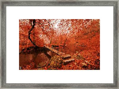 A Perfect Stroll In The Park Framed Print