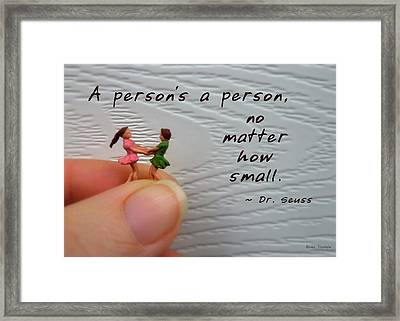 A Person . . . Framed Print by Renee Trenholm