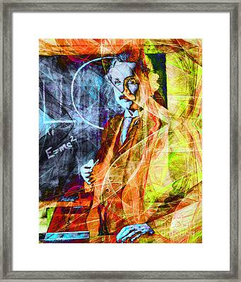 A Person Who Never Made A Mistake Never Tried Anything New - Einstein In Abstract 20140908 Framed Print by Wingsdomain Art and Photography