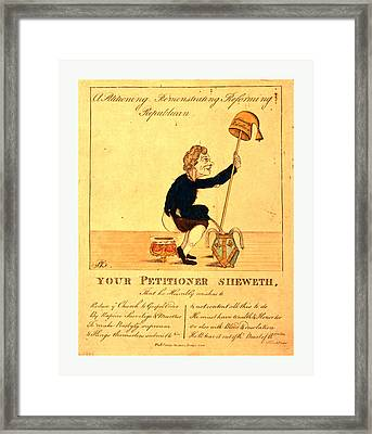A Petitioning, Remonstrating, Reforming, Republican Framed Print