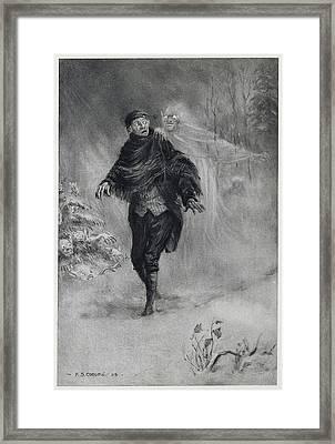 A Phantom At His Shoulder Framed Print