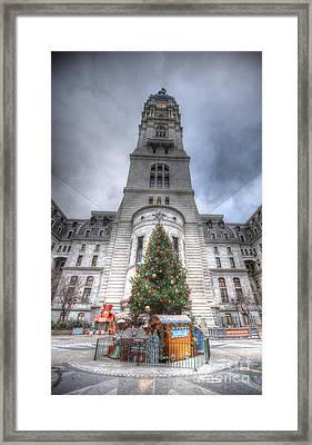 A Philadelphia City Christmas Framed Print by Mark Ayzenberg