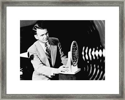 A Photograph Of Sound Waves Framed Print