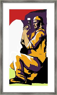 A Photographer In Action Framed Print by Sotiris Filippou