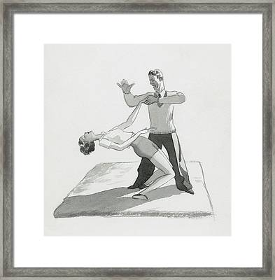 A Physical Instructor Giving A Lesson Framed Print