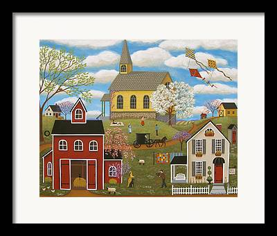 Horse And Buggy Paintings Framed Prints