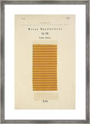 A Piece Of Silk With Red Stripes Framed Print