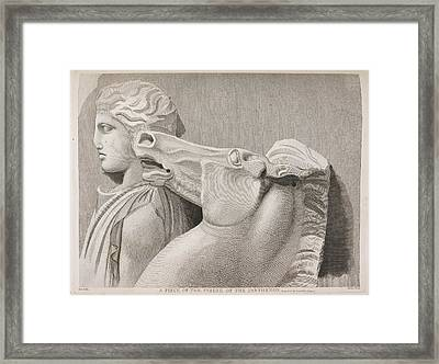A Piece Of The Frieze Of The Parthenon Framed Print by British Library