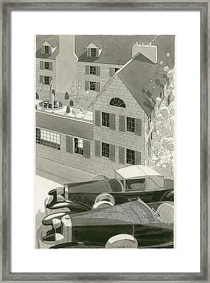 A Pierce Arrow Coupe And A Duesenberg Sports Framed Print