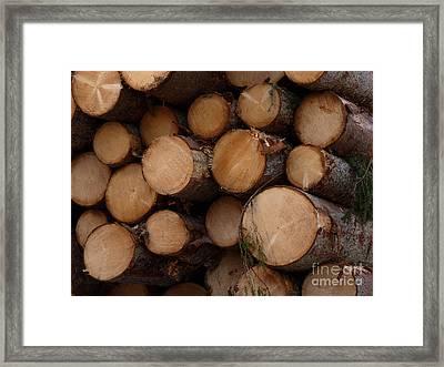 A Pile Of Logs  Framed Print