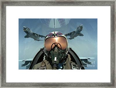 A Pilot Takes A Self Portrait Framed Print by Stocktrek Images