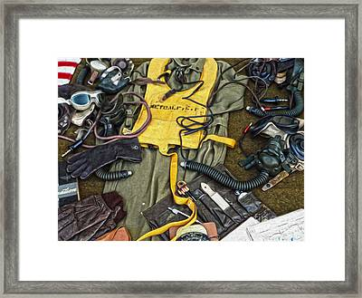 A Pilots Things - 03 Framed Print by Gregory Dyer