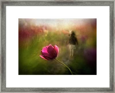 A Pink Childhood Memory Framed Print