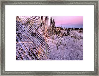 A Pink Sunrise Framed Print