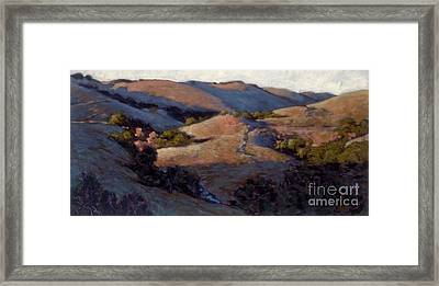 A Pinking Of The Hills Framed Print