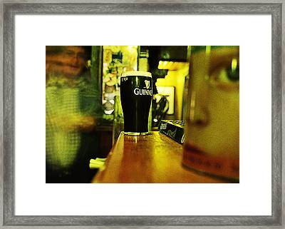 A Pint Framed Print by Tony Reddington