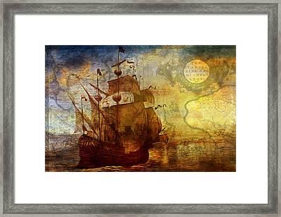 A Pirates Life Vintage Framed Print by Georgiana Romanovna