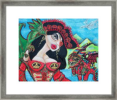 A Pirates Quest For The Skittled Dragon Framed Print by Laura Barbosa