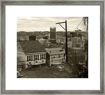 A Pittsburgh Backyard Framed Print by Joyce  Wasser